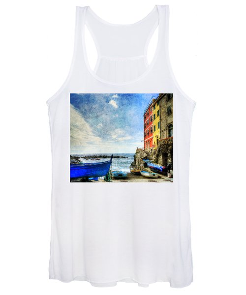 Cinque Terre - Little Port Of Riomaggiore - Vintage Version Women's Tank Top