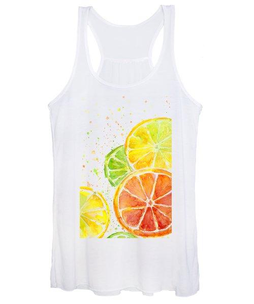 Citrus Fruit Watercolor Women's Tank Top