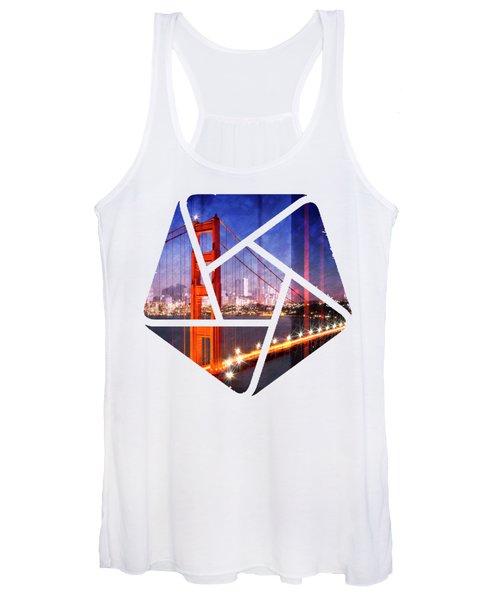 City Art Golden Gate Bridge Composing Women's Tank Top