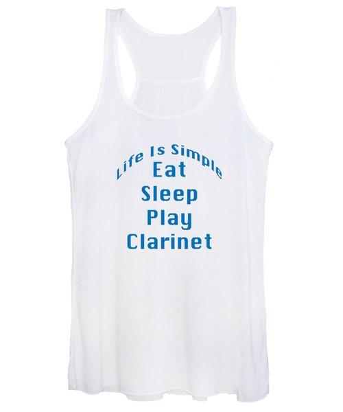 Clarinet Eat Sleep Play Clarinet 5512.02 Women's Tank Top