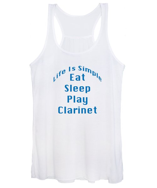 Clarinet Eat Sleep Play Clarinet 5512.02 Women's Tank Top