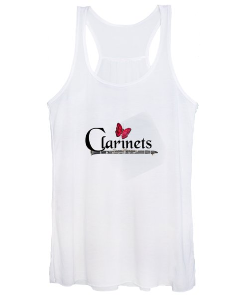 Clarinets And Butterfly Women's Tank Top