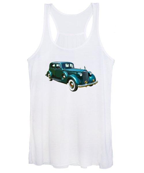 Classic Green Packard Luxury Automobile Women's Tank Top