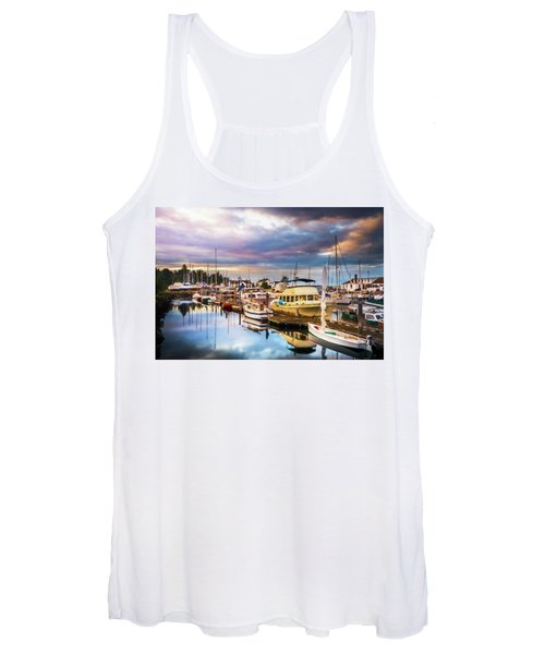 Clearing Storm Over The Pacific Ocean Women's Tank Top