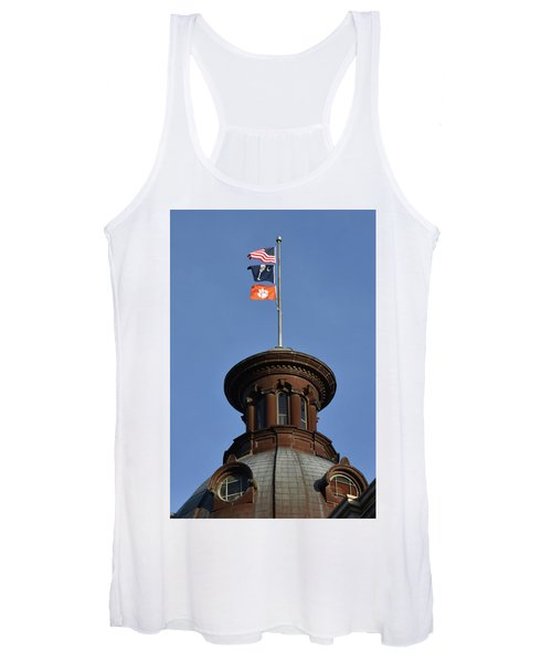 Clemson Flag At State House Women's Tank Top