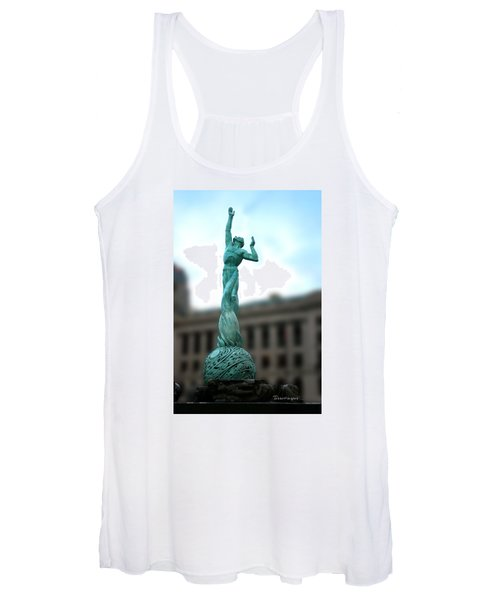 Cleveland War Memorial Fountain Women's Tank Top
