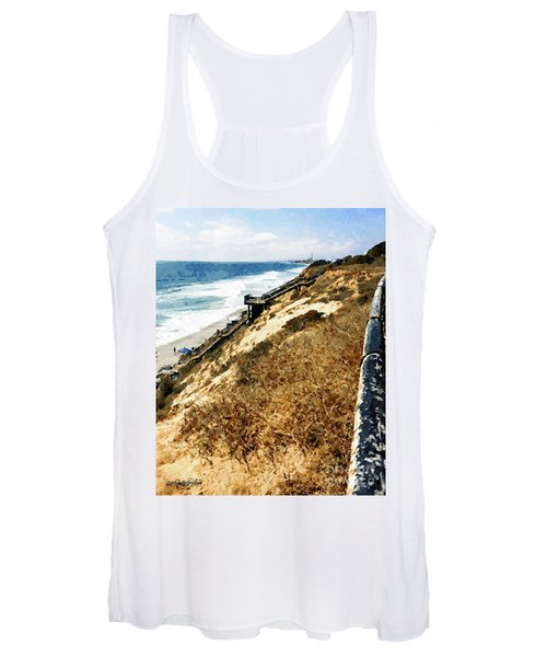 Cliff View - Carlsbad Ponto Beach Women's Tank Top