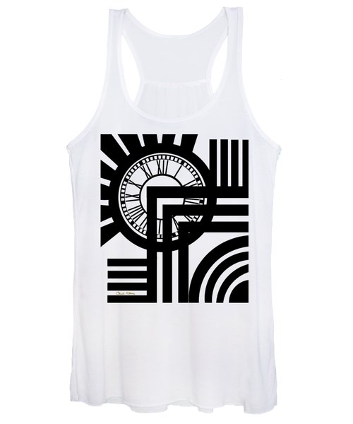 Clock Design Vertical Women's Tank Top