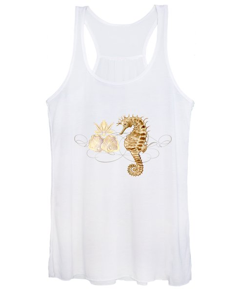 Coastal Waterways - Seahorse Rectangle 2 Women's Tank Top