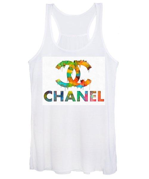 Coco Chanel Paint Splatter Color Women's Tank Top
