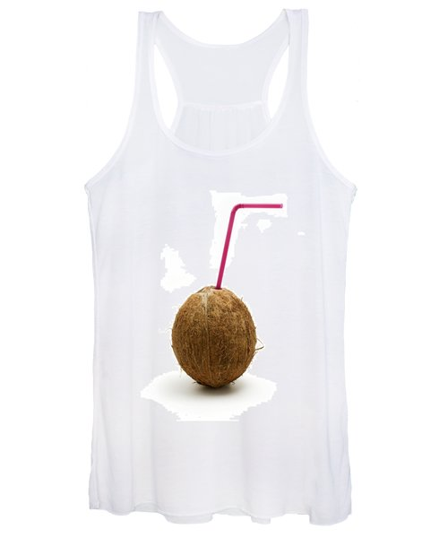 Coconut With A Straw Women's Tank Top
