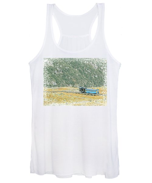 Cog Railroad Train. Women's Tank Top