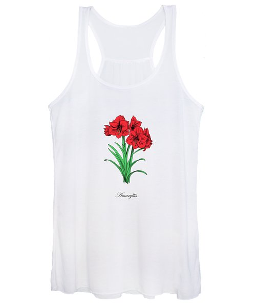 Colored Amaryllis. Botanical Women's Tank Top