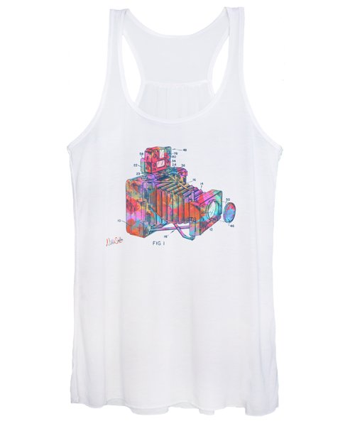 Colorful 1966 Photographic Camera Accessory Patent Minimal Women's Tank Top