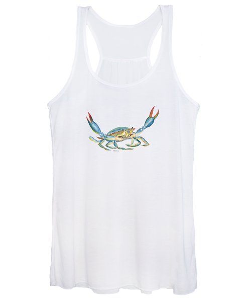 Colorful Blue Crab Women's Tank Top