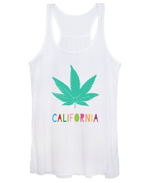 Colorful California Cannabis- Art By Linda Woods Women's Tank Top