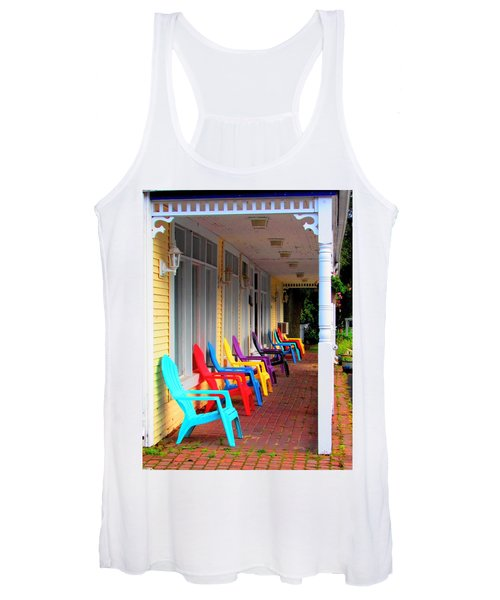 Colorful Chairs Women's Tank Top