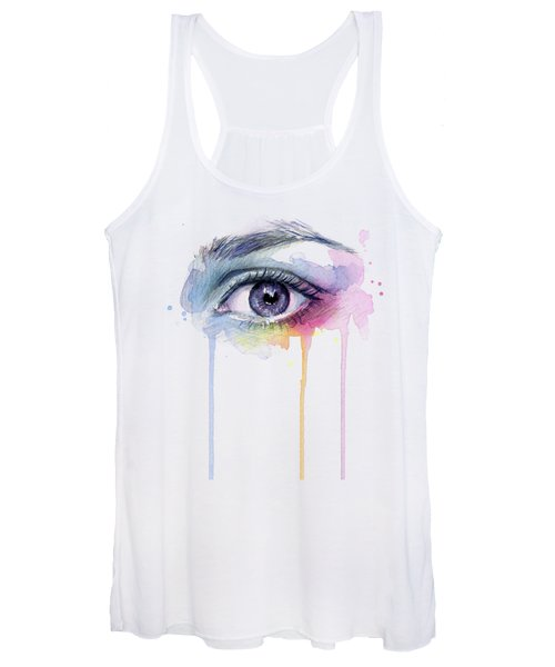 Colorful Dripping Eye Women's Tank Top