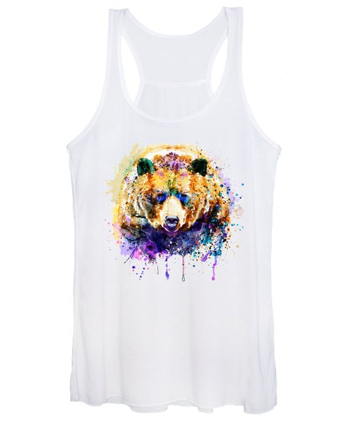 Colorful Grizzly Bear Women's Tank Top