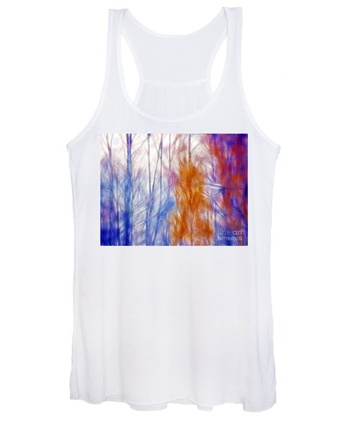 Colorful Misty Forest  Women's Tank Top