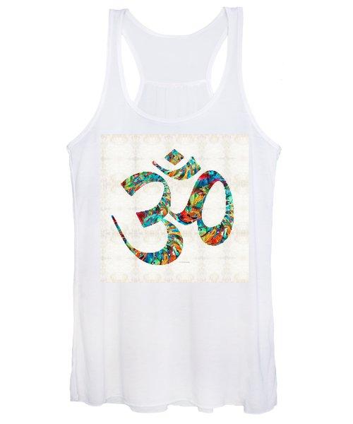 Colorful Om Symbol - Sharon Cummings Women's Tank Top