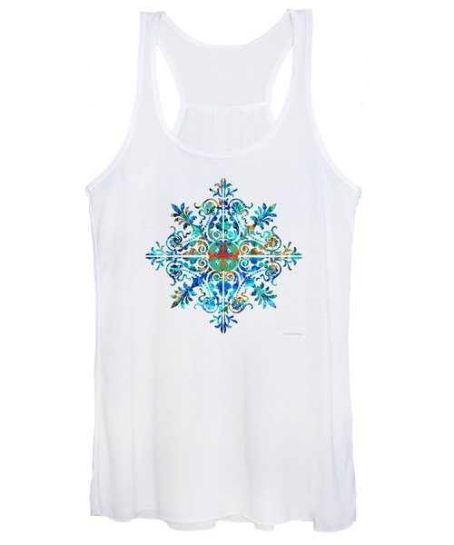 Colorful Pattern Art - Color Fusion Design 5 By Sharon Cummings Women's Tank Top