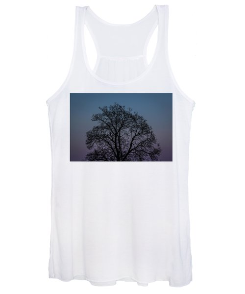 Colorful Subtle Silhouette Women's Tank Top