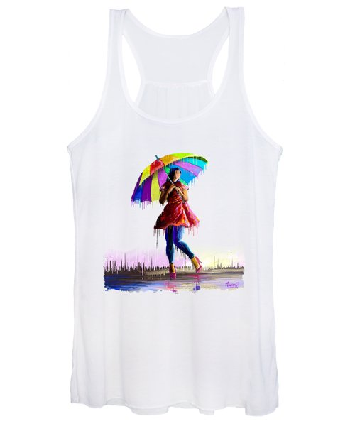 Colorful Umbrella Women's Tank Top