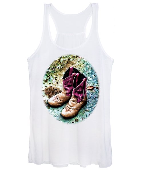 Colors Of A Cowgirl Oval White Women's Tank Top