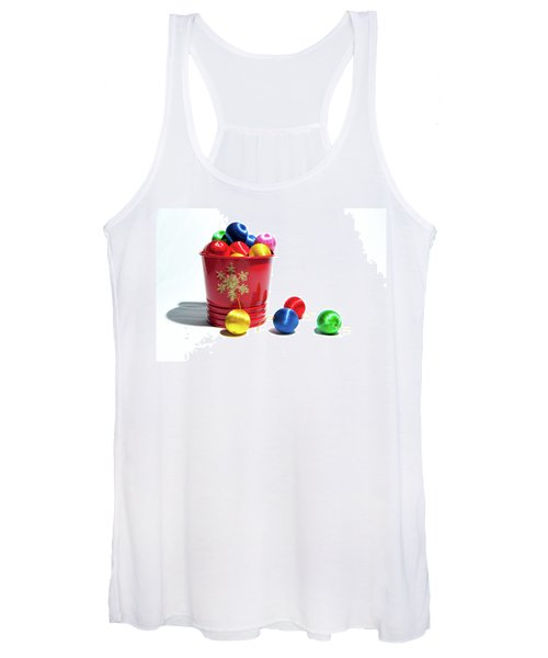 Coloured Baubles In A Pot Women's Tank Top