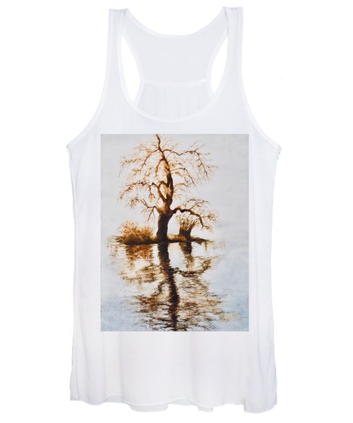 Como Lake Reflections Women's Tank Top