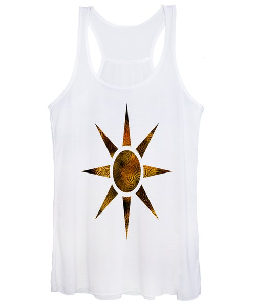 Copper Spirals Abstract Square Women's Tank Top