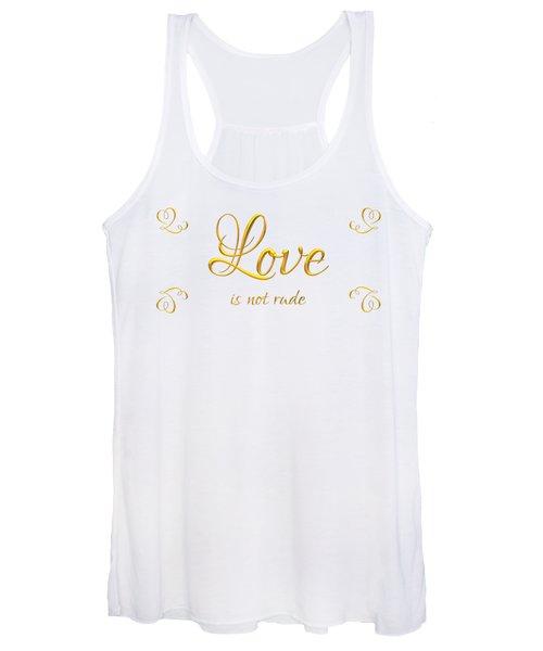 Corinthians Love Is Not Rude Women's Tank Top