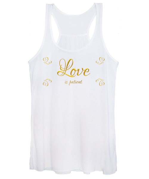 Corinthians Love Is Patient Women's Tank Top