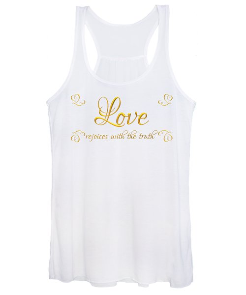 Corinthians Love Rejoices With The Truth Women's Tank Top