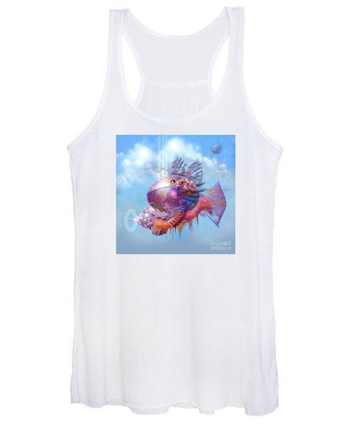 Cosmic Fish Spaceship Women's Tank Top