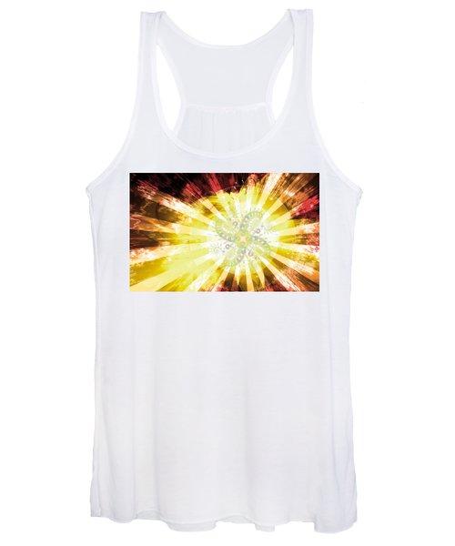 Cosmic Solar Flower Fern Flare 2 Women's Tank Top