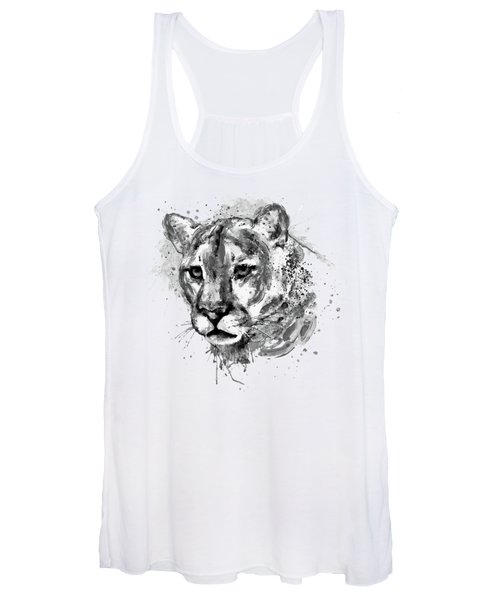 Cougar Head Black And White Women's Tank Top