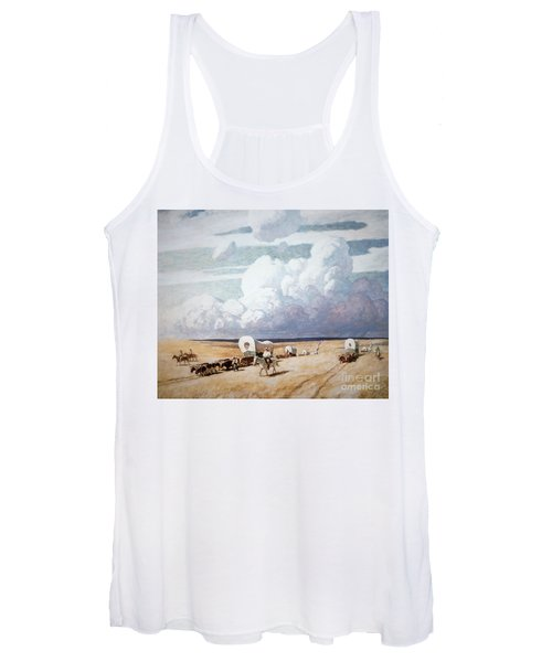 Covered Wagons Heading West Women's Tank Top