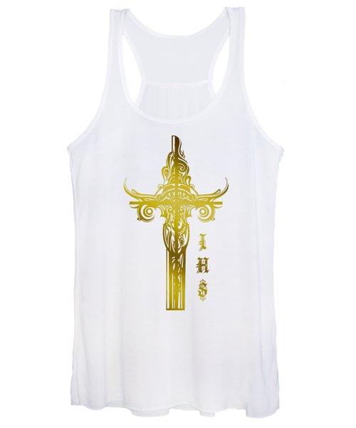 Cross Ihs Gold Women's Tank Top