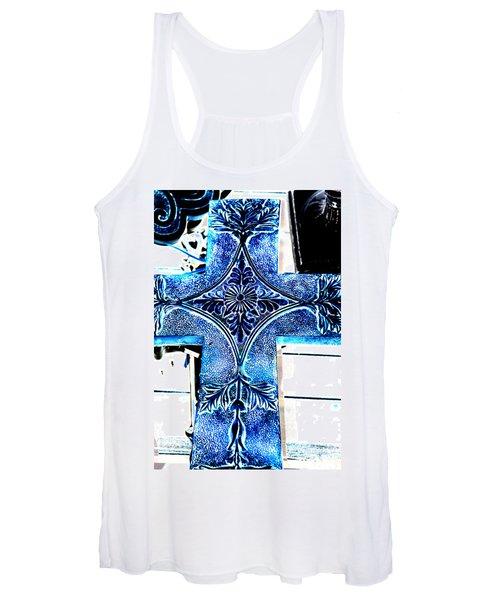Cross In Blue Women's Tank Top