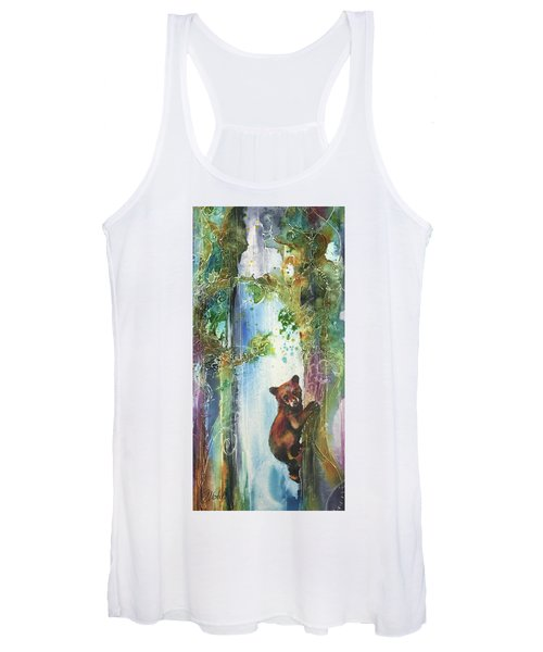 Cub Bear Climbing Women's Tank Top