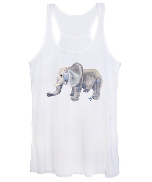 Cuddly Elephant II Women's Tank Top