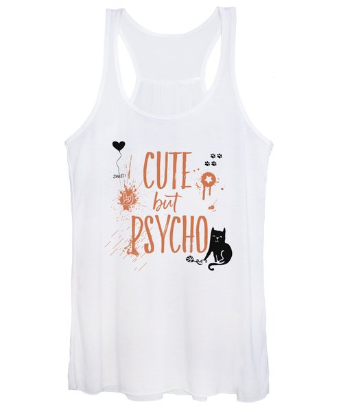 Cute But Psycho Cat Women's Tank Top