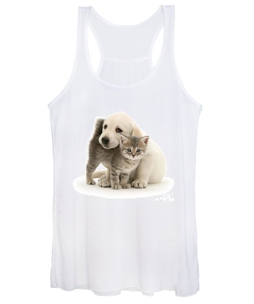 Cute Kitten And Perfect Puppy Women's Tank Top