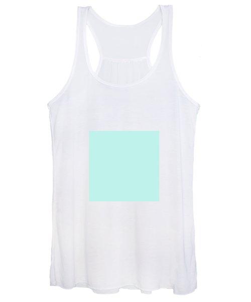 Cyan Ultra Soft Pastels Colour Palette Women's Tank Top