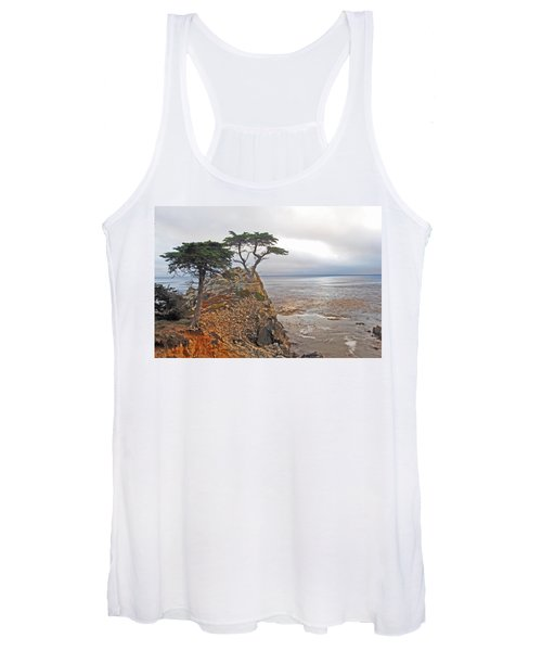Cypress Tree At Pebble Beach Women's Tank Top