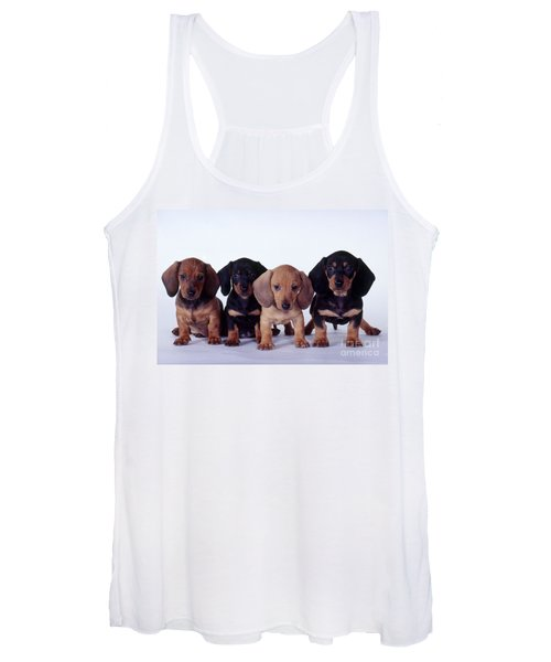 Dachshund Puppies  Women's Tank Top