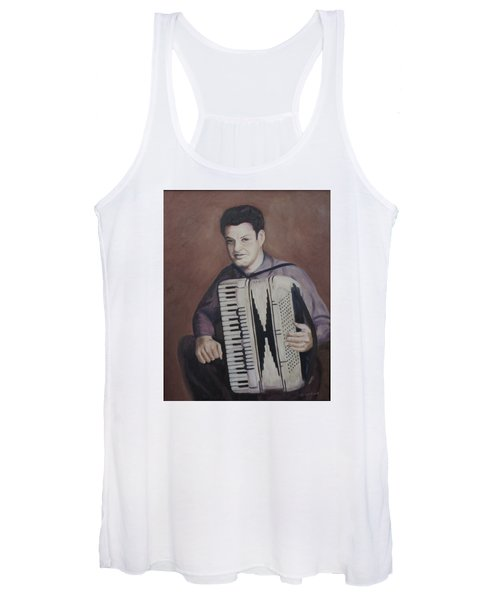 Daddy And His Accordion Women's Tank Top