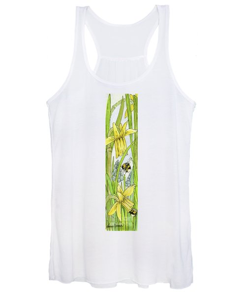 Daffodils And Bees Women's Tank Top